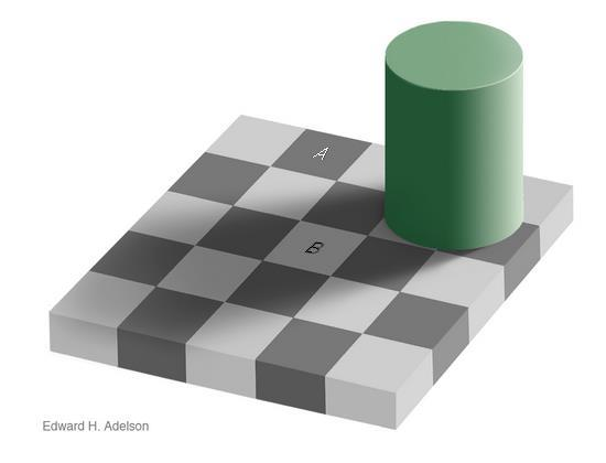 perception chequerboard illusion